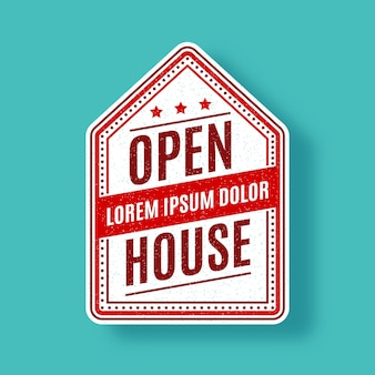 Concept of open house label