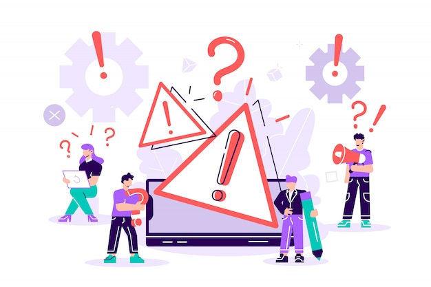 Концепция операционной системы предупреждение об ошибке. 404 ошибка веб-страницы иллюстрации, окно предупреждения об ошибке операционной системы. для веб-страницы, баннер, презентация, социальные медиа, документы, плакаты.