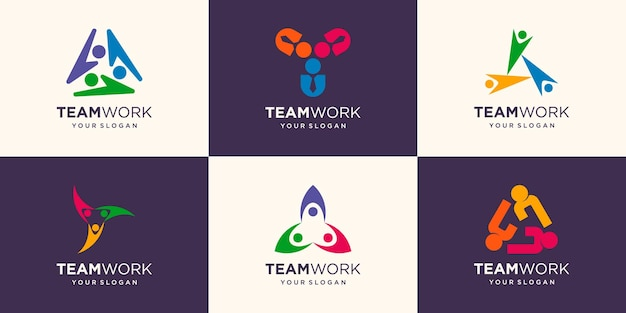 The concept of people full color vector logo