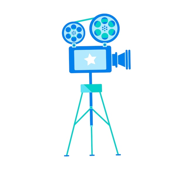 Concept player to display movies design. web banner vintage video player for displaying  .
