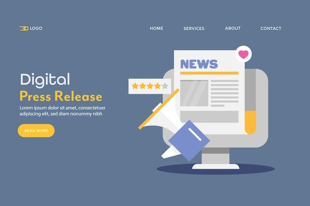 Concept of press release
