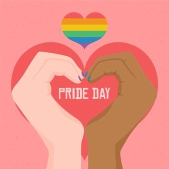 Concept of pride day illustration