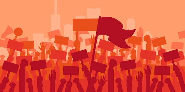 Concept for protest revolution or conflict