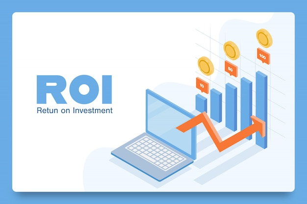 Concept of roi, landing page