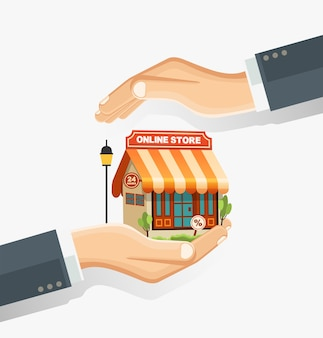 The concept of safe shopping online