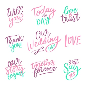 Concept for save the date lettering collection