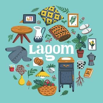 Concept of scandinavian lifestyle lagom