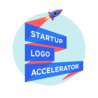 Concept for startup project with inscription