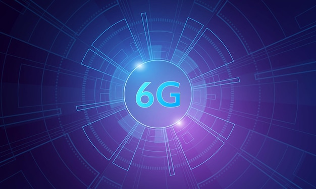 Concept of technology 6g mobile network  new generation telecommunication  highspeed mobile internet