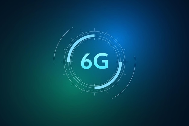 Concept of technology 6g mobile network  new generation telecommunication  highspeed