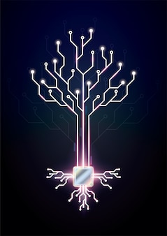 Concept technology  designs circuit board tree.
