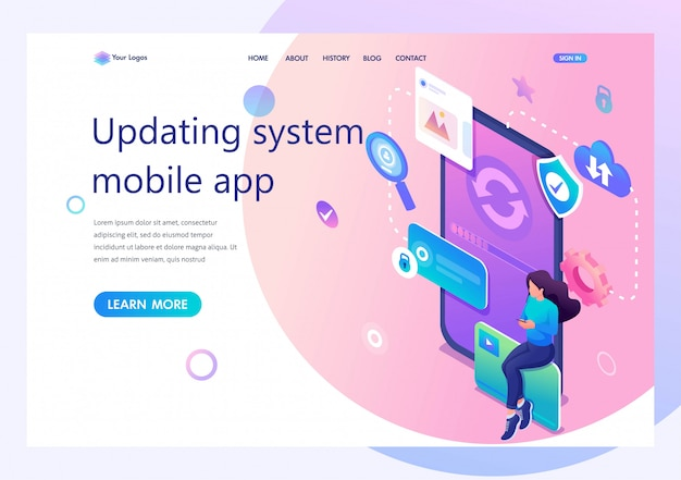 Concept update the mobile application systems