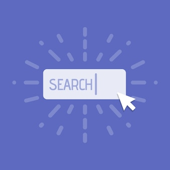 Concept of using web search. vector illustration.