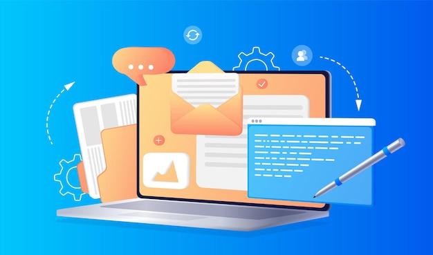 コンセプトウェブデザインウェブサイトページ開発作業プロセスウェブサイトのテンプレートランディングページ