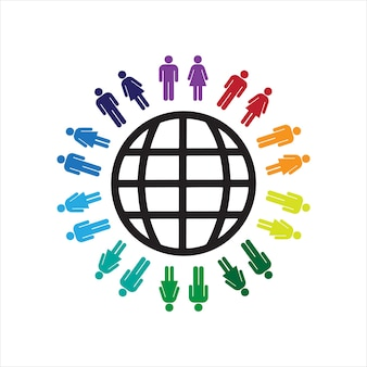 The concept of world day with people vector illustration