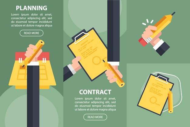 管理、計画、コンサルティングのコンセプト