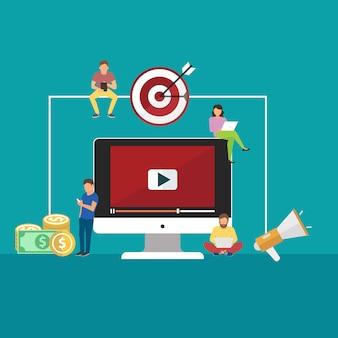 비디오 및 디지털 마케팅에 대한 개념