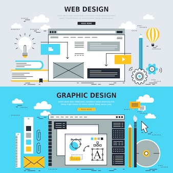 Concepts for web design and graphic design