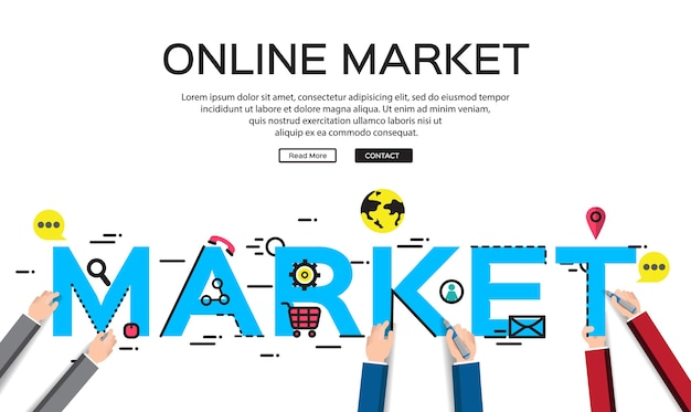Concepts of words market