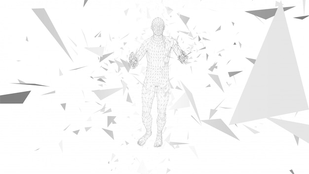 Conceptual abstract man