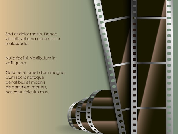 Conceptual background of old technology. film with a photo