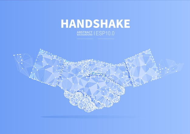Conceptual illustration of business cooperation handshake to reach agreement