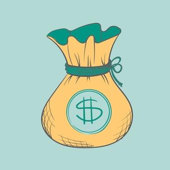 Рука рисунок иллюстрации финансов concet