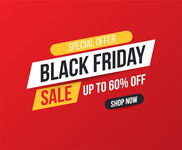 Concise banner for sales and discounts on black friday.