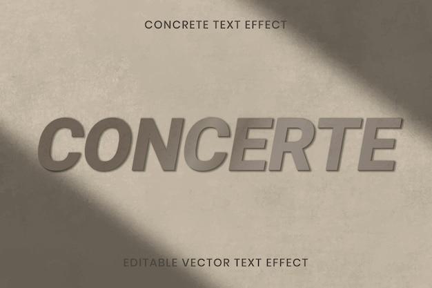 Бетонная текстура текстовый эффект вектор редактируемый шаблон