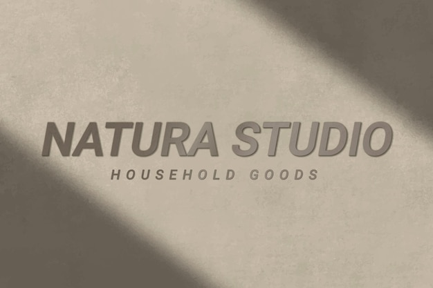 Concrete textured logo template vector for household goods business