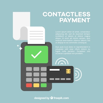Conctactless payment background