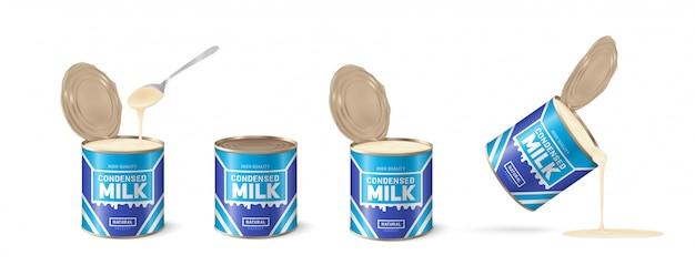 Condensed milk illustration