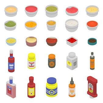 Condiment icons set
