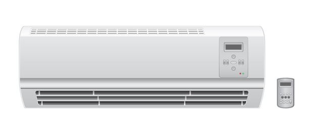 Conditioner aircon with remote vector icon
