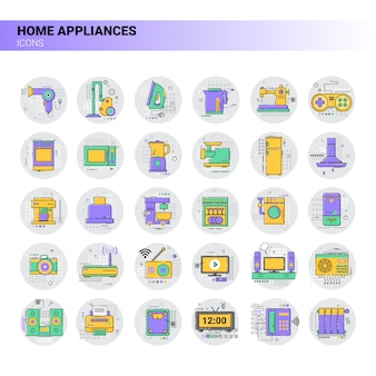 Conditioner household house heating icon kitchen devices housekeeping collection