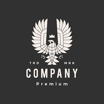 Condor bird of prey hipster vintage logo template