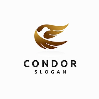 Condor logo with lettering concept