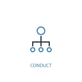 Conduct concept 2 colored icon. simple blue element illustration. conduct concept symbol design. can be used for web and mobile ui/ux