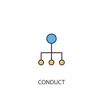 Conduct concept 2 colored line icon. simple yellow and blue element illustration. conduct concept outline symbol design