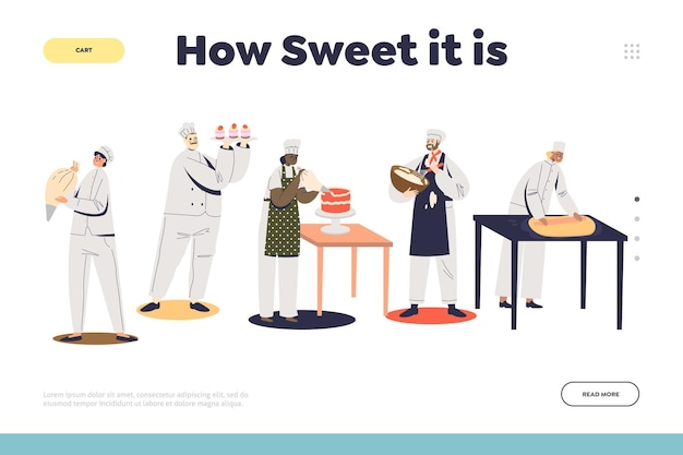 Confectionary service for festive events landing page template