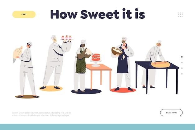 お祭りイベントのランディングページテンプレートの製菓サービス