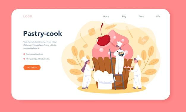Confectioner web banner or landing page