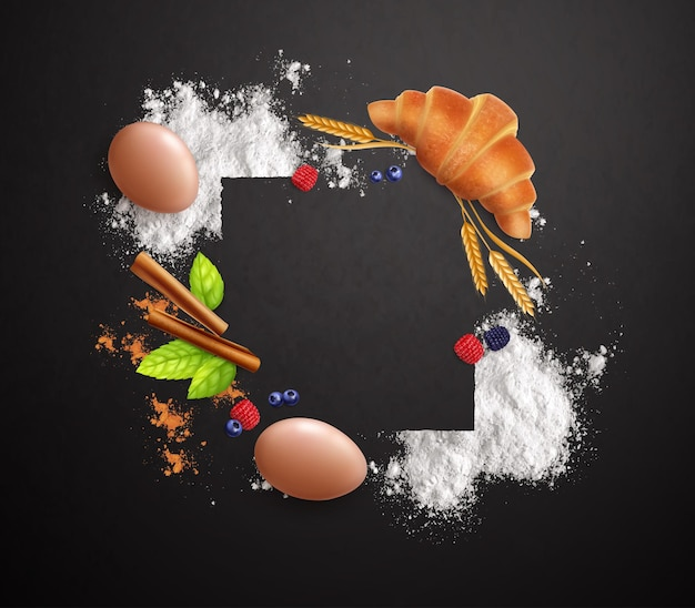 Confectionery frame background