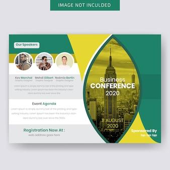 Шаблон горизонтального флаера для конференций