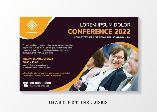 Conference invitation abstract flyer with line element