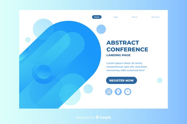 Conference landing page