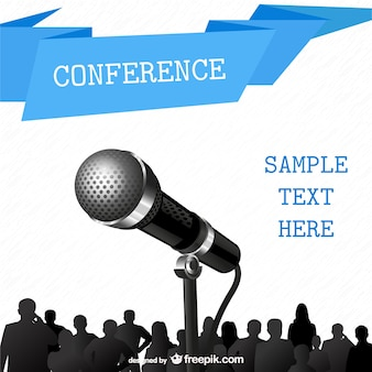 Conference poster with a microphone