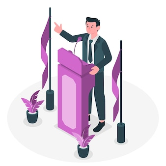 Conference speaker concept illustration