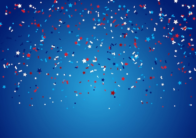 Confetti background for 4th july holiday