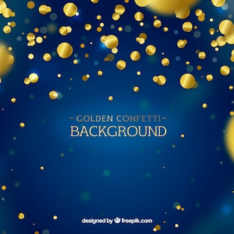 Confetti background with gold